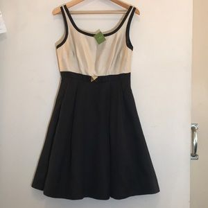 Kate Spade dress sz 10 Jasmine champagne & black